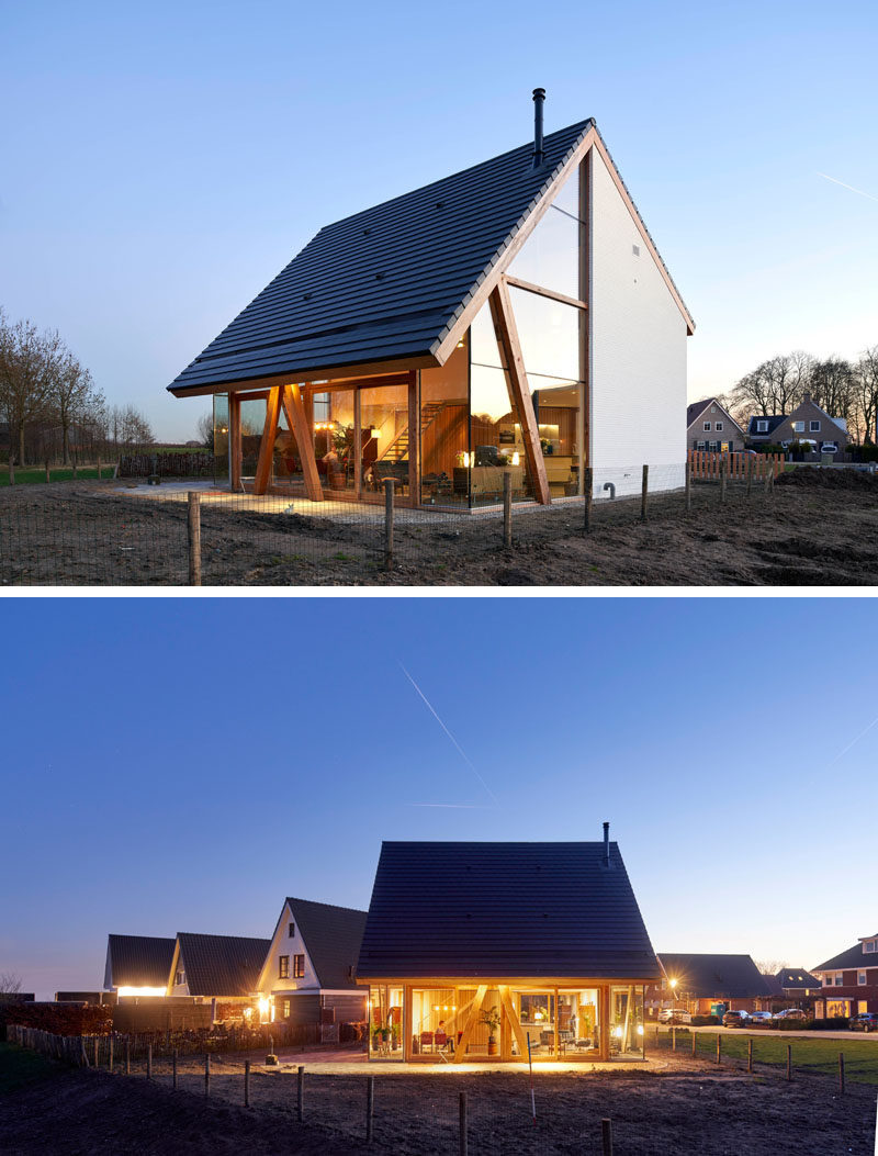 Ruud Visser and Fumi Hoshino ofRV Architecture, have recently completed 'Barnhouse Werkhoven', a contemporarybarnhouse in the Netherlands, that's been inspired by catalogue-homes. #BarnStyleHouse #ModernBarnHouse #Architecture