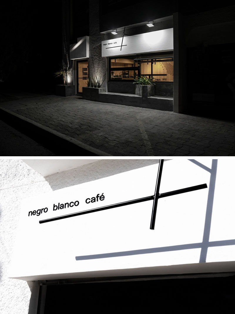 Estudio yeye have designed Negro Blanco Café (Black White Coffee), a modern coffee shop in Chihuahua, Mexico, that's named after the most common combinations of a cafe drink: coffee, water, and milk. #CoffeeShop #CafeDesign