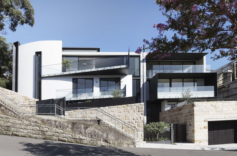 Architecture Saville Isaacs has completed the 'Twin Houses', a modern two house project that sits comfortably within the established urban streetscape of Sydney, Australia. #ModernHouse #Architecture