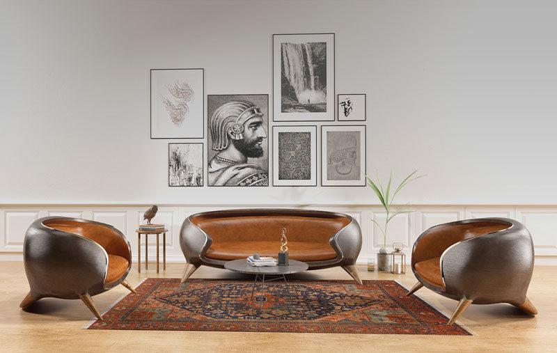 Koron Sofa by Reza Salianeh and Hamid Packseresht #Sofa #Couch #Seating #ModernFurniture