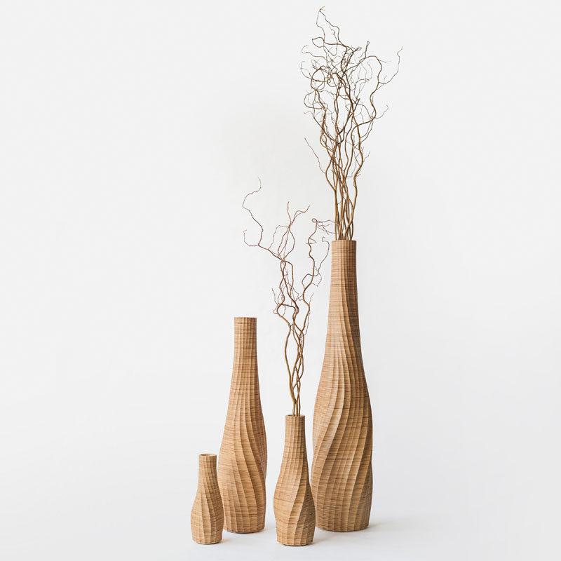 Aestus Vase by Oliver David Krieg #ModernVase #WoodVase #Design