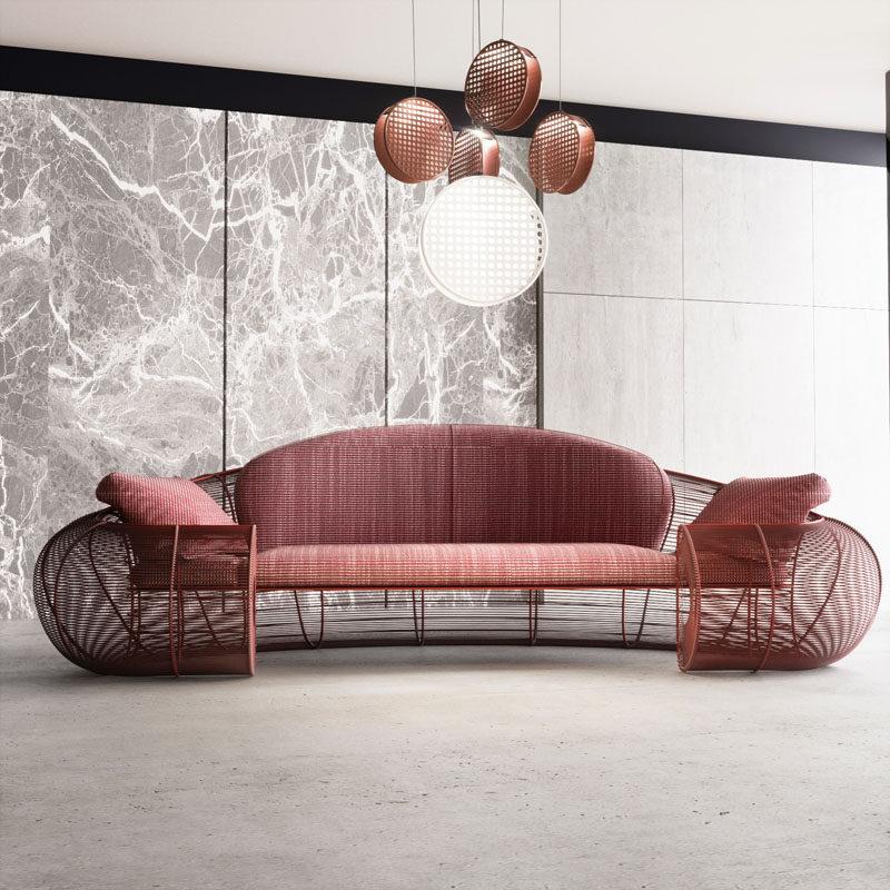 Shell Sofa by Natalia Komarova #ModernSofa #ModernCouch #Seating #FurnitureDesign