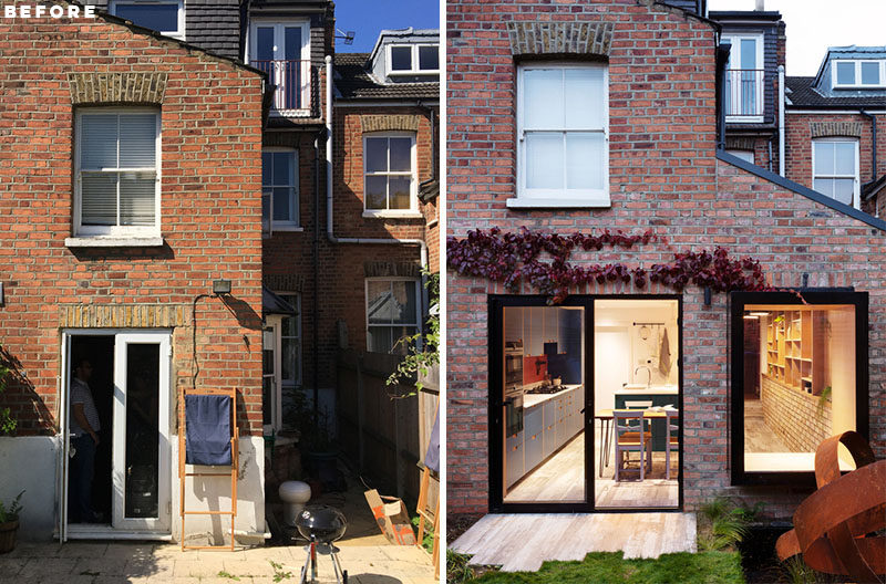 Amos Goldreich Architecture has designed a side extension as well as ground floor internal reconfiguration and refurbishment of a Victorian terrace house in London, England. #SideExtension #Architecture
