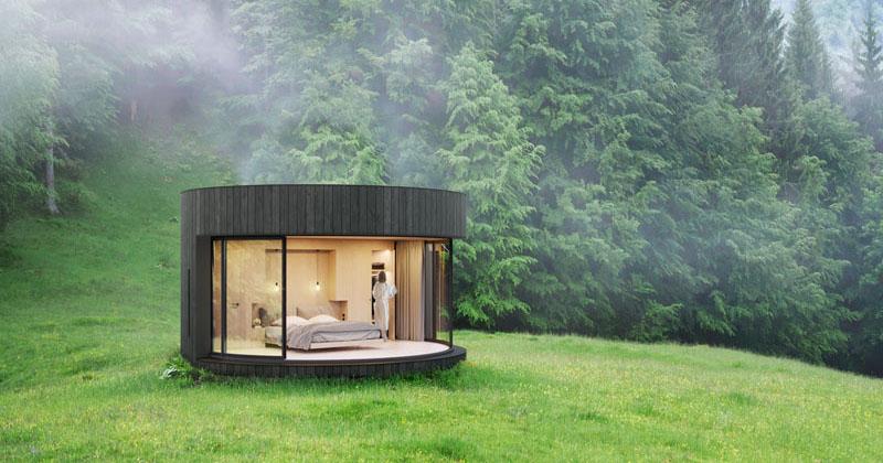 Lumicene Has Created A Tiny Prefab Cabin With A
