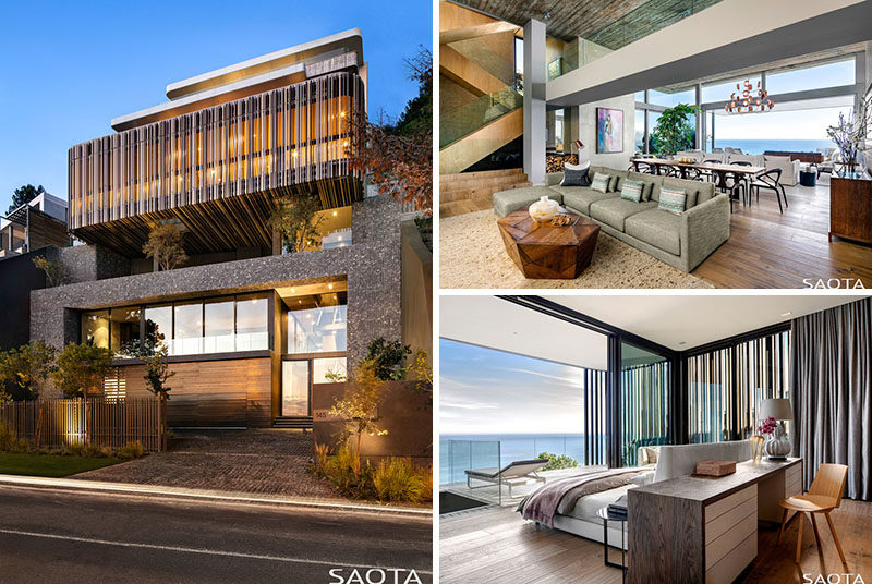 Architecture firm SAOTA, has designed a new and modern house in Cape Town, South Africa, that has views of the Atlantic Ocean. #ModernArchitecture #ModernHouse