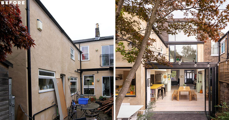 Before & After - A Light-Filled Extension Was Added To This Home In London