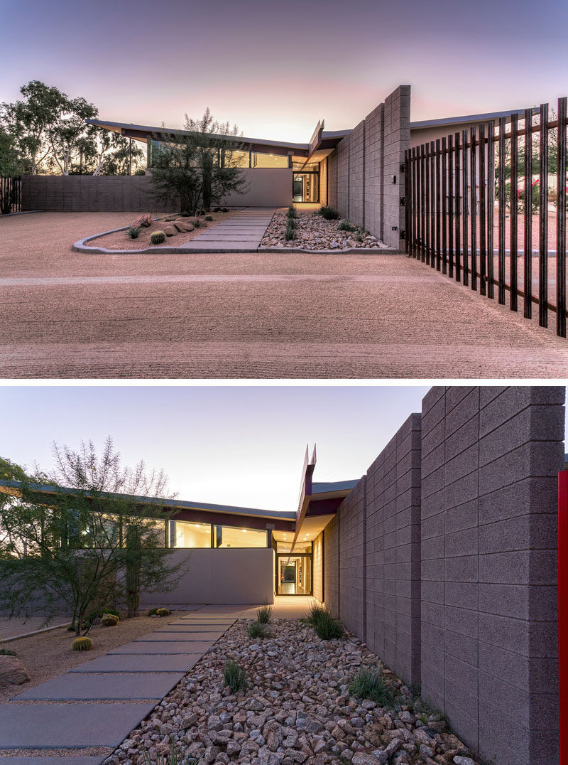 Sandblasted Concrete Blocks Provide This Home With Desert