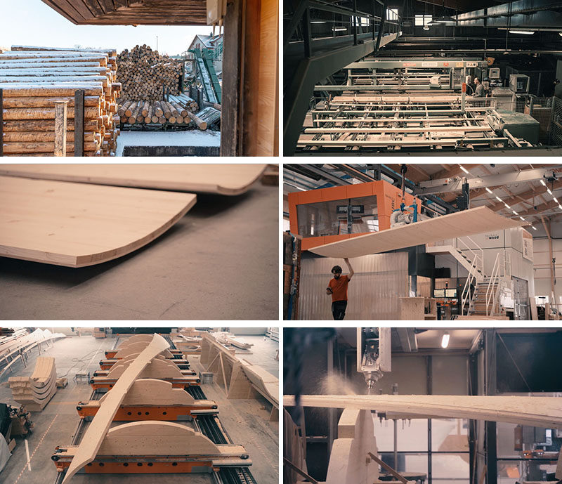 'MAKING OF' PHOTOS - The Urbach Tower is the first wood structure made from self-shaped components, and it serves as a landmark building for the City of Urbach's contribution to the Remstal Gartenschau 2019. #Architecture #Design #Sculpture