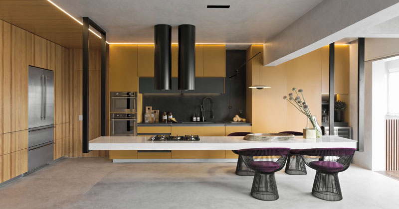 Design Detail - This Kitchen Features An Eye-Catching Hanging Island