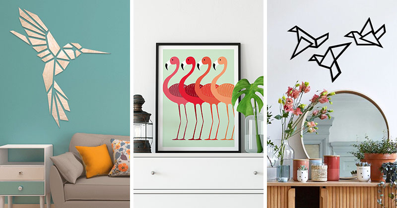 Bird wall art designs are a great way to add color, fun, and a bit of personality to any room. #BirdWallArt #BirdArt #BirdHomeDecor #Birds