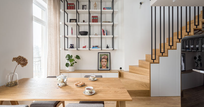 This Small Apartment Includes A Mezzanine To Increase The Living Space
