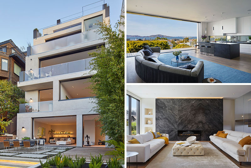 Troon Pacific has designed a multi-storey modern house in San Francisco, California, that's been inspired by wellness and has plenty of space for relaxing and reflecting. #ModernHouse #HouseDesign #Architecture
