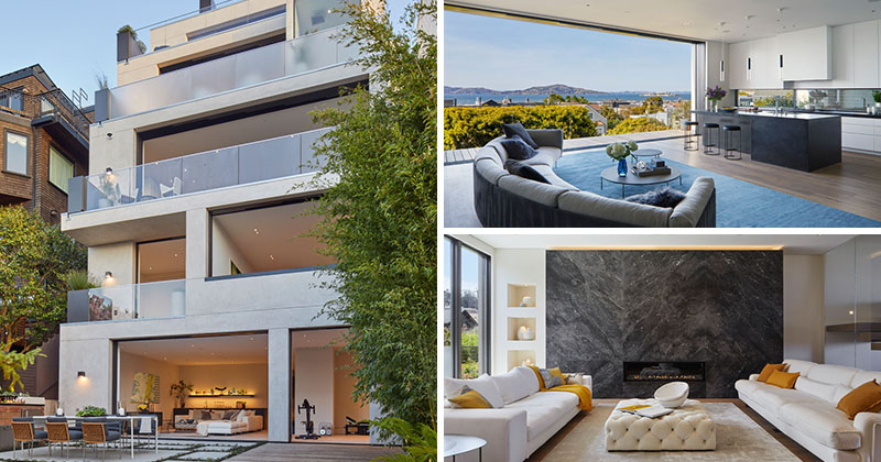 This New Multi-Storey House In San Francisco Was Designed To Enable Views Of The Bay From Its Many Outdoor Spaces