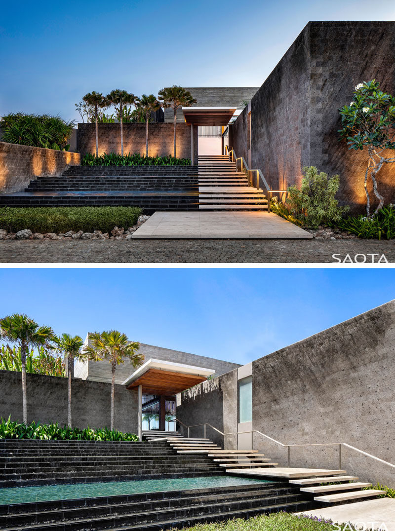 SAOTA has recently completed Uluwatu, their first project in Bali, Indonesia, that's designed as a getaway home for their clients. #ModernArchitecture #HouseDesign