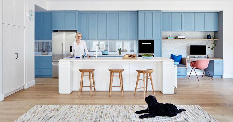 Modern matte blue kitchen 240619 1201 12