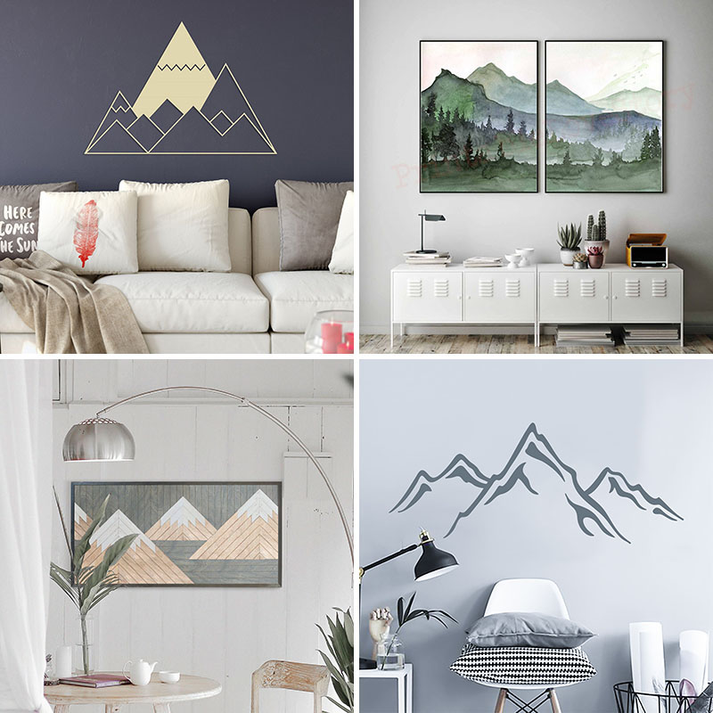 Normally, mountains are best enjoyed outside, but when you are at home and want to be reminded of the outdoors, you can hang mountain wall art on your walls. #ModernWallArt #MountainWallArt #WallArt