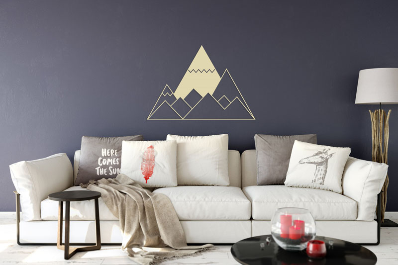 BlackIvyCraft designed this minimalist metal wall art showcasing a series of mountains. #MountainWallArt #MountainArt #MountainDecor #MetalWallArt
