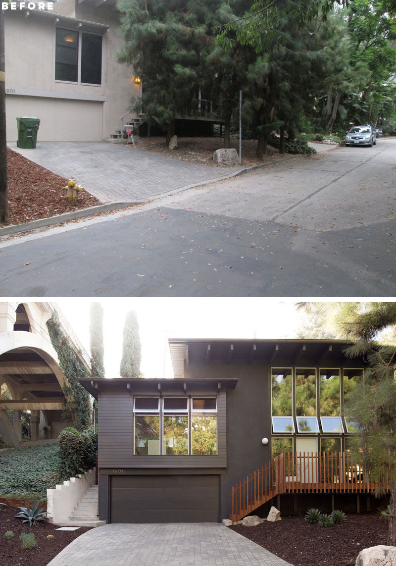 BEFORE + AFTER - ras-a-studio has completed the whole house renovation and small addition to a mid century home in Los Angeles, California. #Renovation #Architecture #HouseDesign