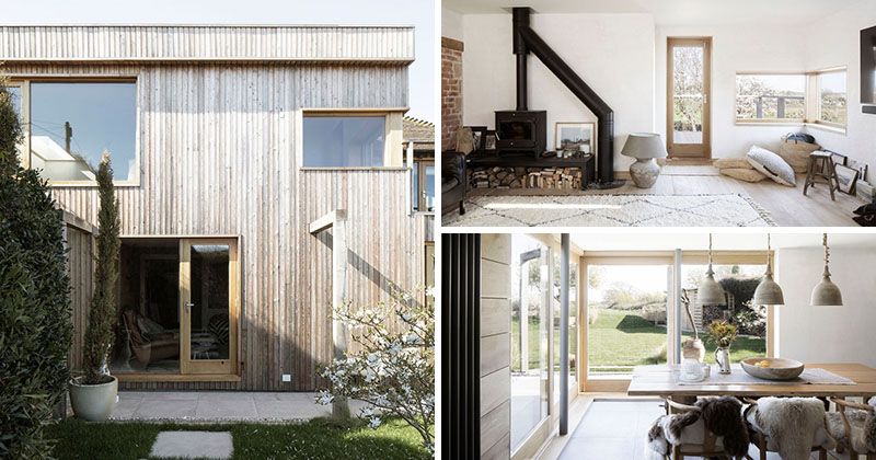 This 200-Year-Old House In England Received A Wood Covered Addition