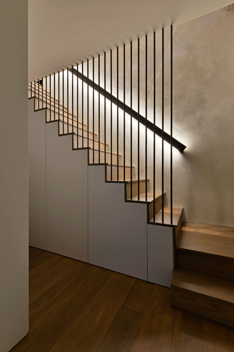 Design Detail - These Wood Stairs Have A Handrail With ...