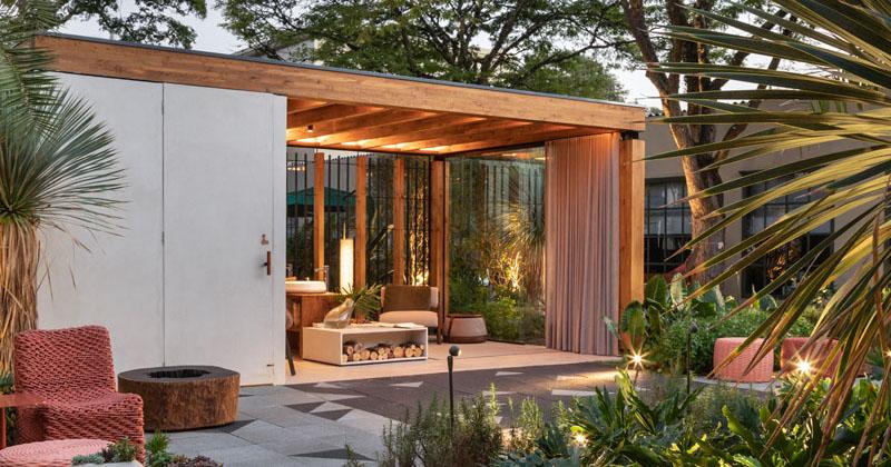 Lucas Takaoka Has Designed An Outdoor Living Area For Casacor SP 2019