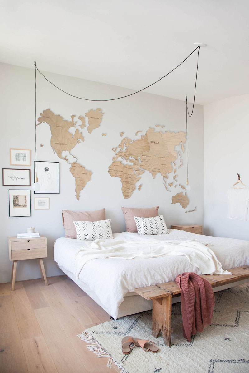 This light wood world map can be customized to be blank without country names, or have all the details like country names and borders filled in.