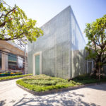20,000 Glass Blocks Were Used To Create A Condo Sales Gallery, That Also Hides A Secret Garden