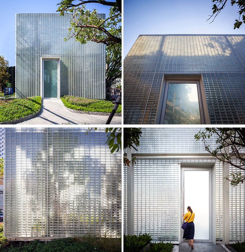 Architecture Ideas - 20,000 rectangular glass blocks were used to create a modern building that also hides an interior courtyard. #GlassBlocks #Architecture #BuildingIdeas