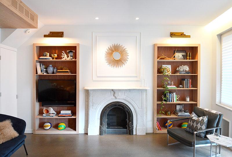 Bookshelf Design Ideas - Wood-Lined, Built-In Bookshelves ...