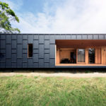 House Siding Ideas – This Modern House Was Clad In Black Fibre Cement Panels With Matching Black Battens