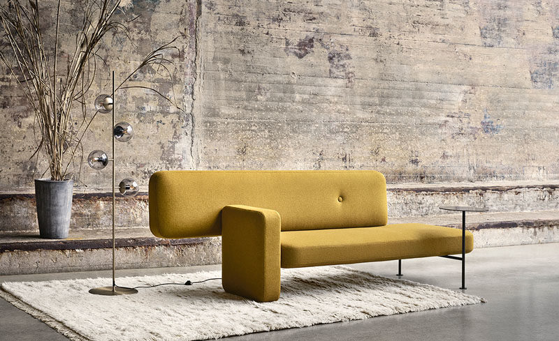 The Design Of The Pebble Sofa Was Inspired By Rocks Found In Nature