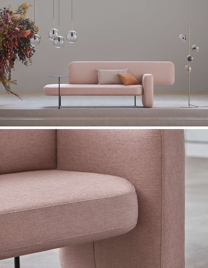 Picture of: The Design Of The Pebble Sofa Was Inspired By Rocks Found In Nature