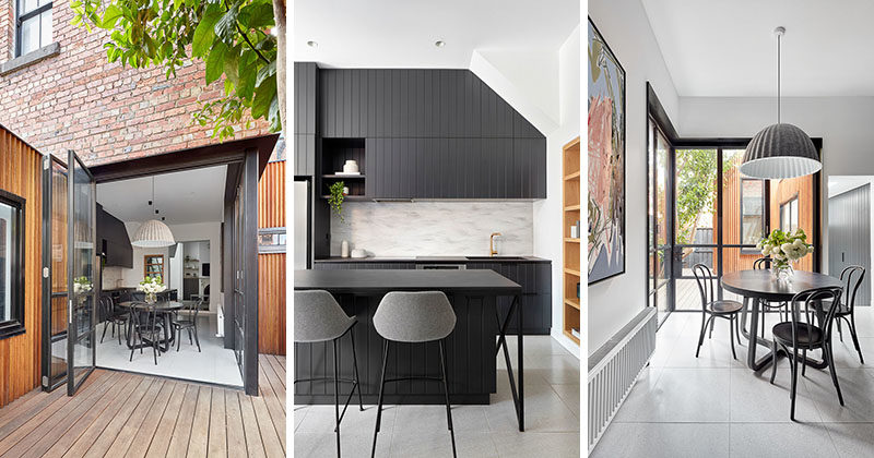 Architectural firm Bryant Alsop has designed the modern renovation of an early-Victorian terrace in inner urban Melbourne, Australia, that also included the addition of a study and loft. #ModernRenovation #InteriorDesign