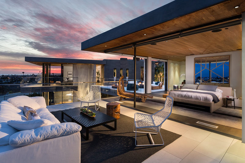 This master bedroom has its own private outdoor lounge. #OutdoorLounge #MasterBedroom