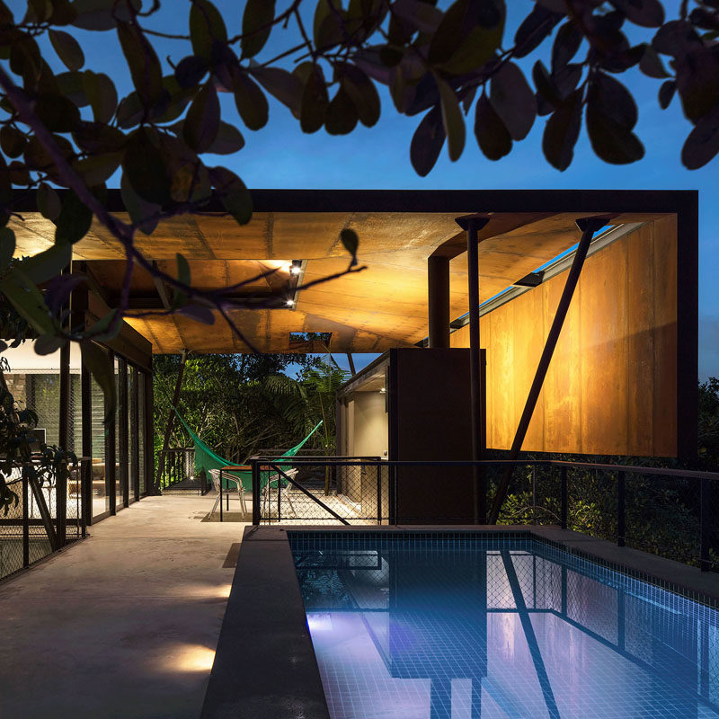 Campinarana House by Laurent Troost #Architecture #ModernHouse #HouseDesign #SwimmingPool