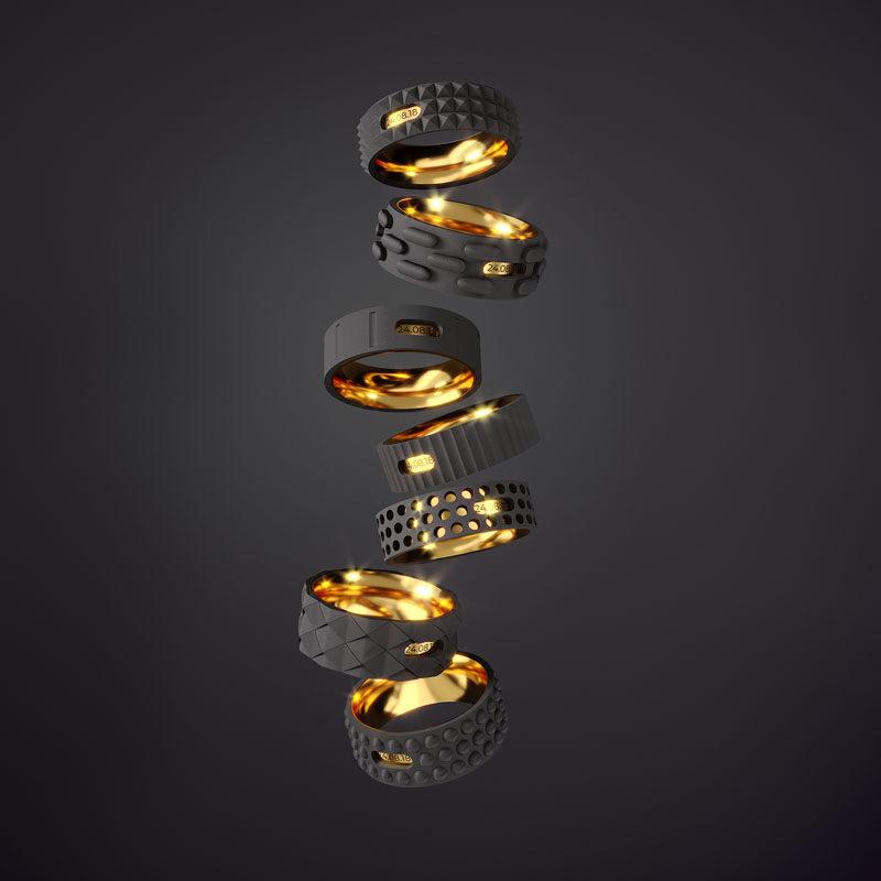 Industrial Wedding Rings by Igor Komov #WeddingRings #Design