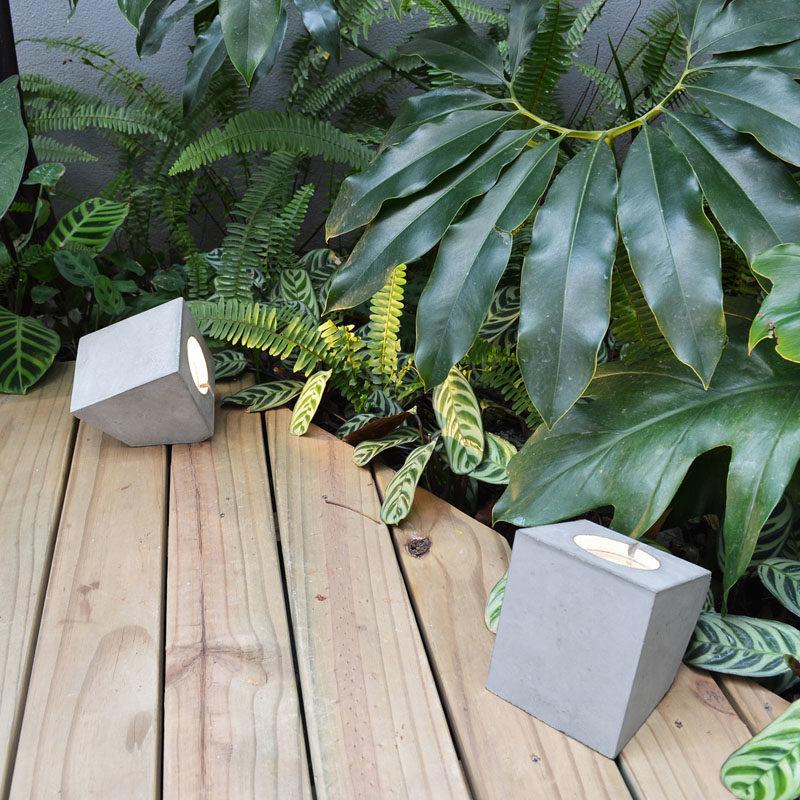 Vira Garden Collection (Outdoor Lights) by Lucas Bittar #OutdoorLighting #ConcreteLights #Design