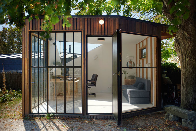 A Modern Backyard Studio For A Music Composer