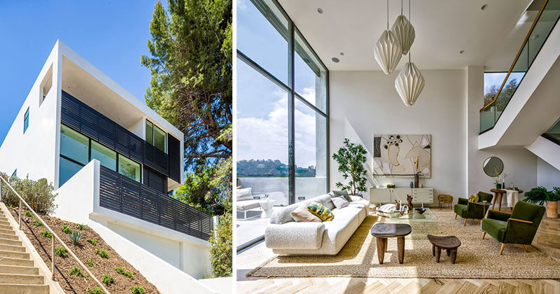 High Ceilings And Double Height Windows Keep This L A House Bright And Airy