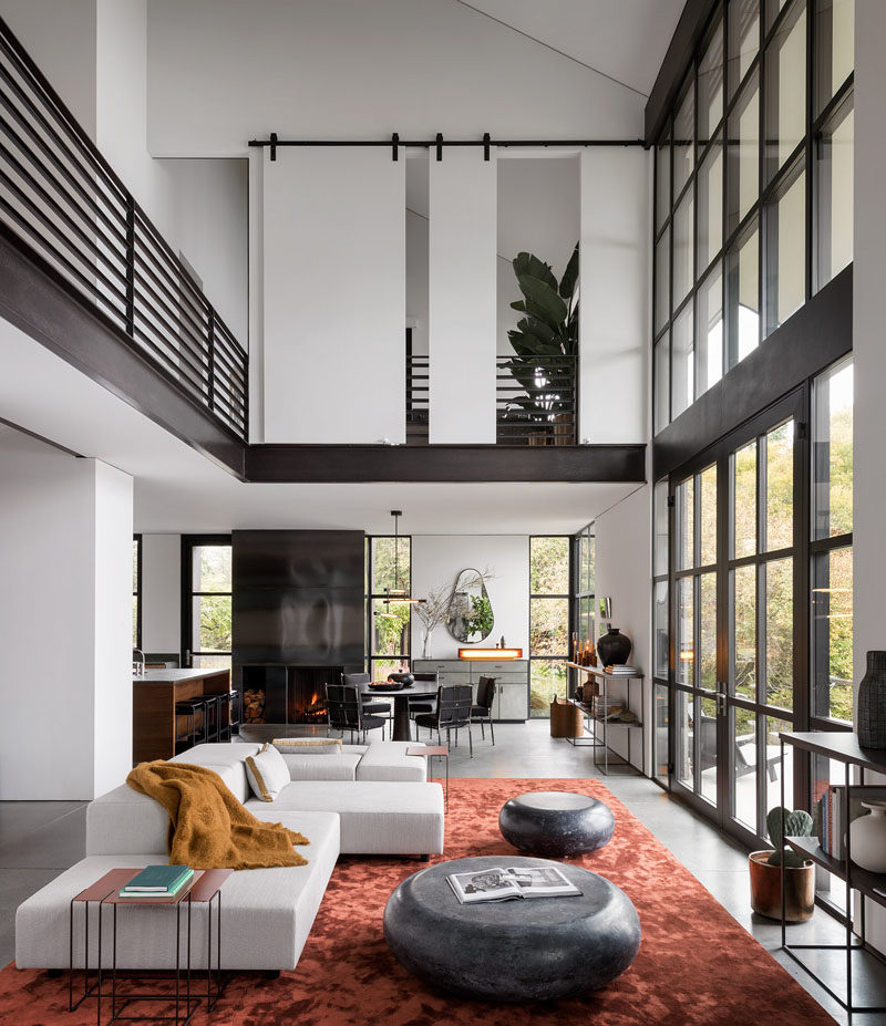 High Ceilings And Industrial Materials Are Prominent Design Elements This New House