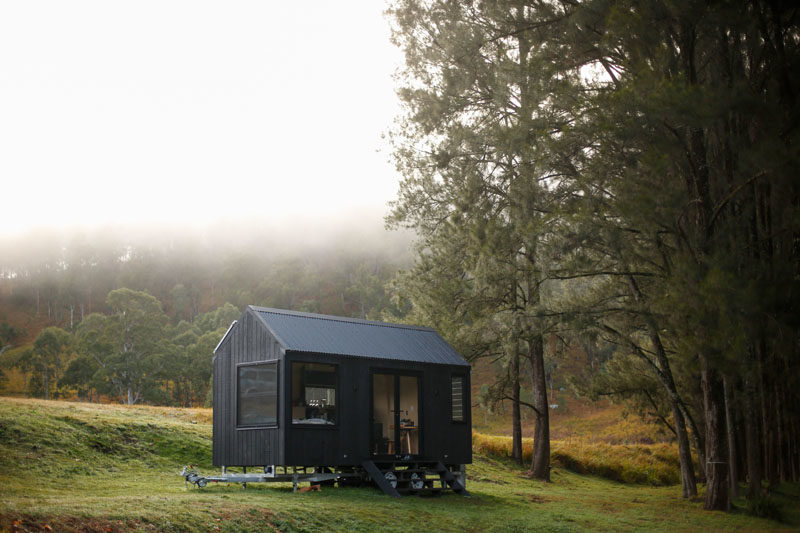Sydney-based design and build studio Fresh Prince, has completed a modern tiny house that acts as an off-the-grid cabin. #TinyHouse #TinyHome #TinyCabin #Architecture