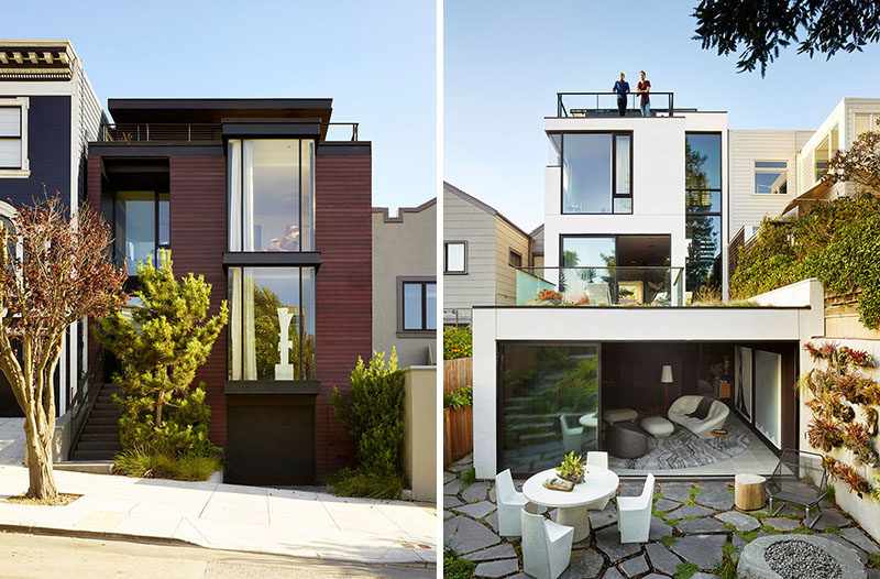 Architecture and interior design firm Jamie Bush & Co. has designed a modern house in San Francisco, creating a welcoming home for a young tech pioneer. #Architecture #InteriorDesign #ModernArchitecture