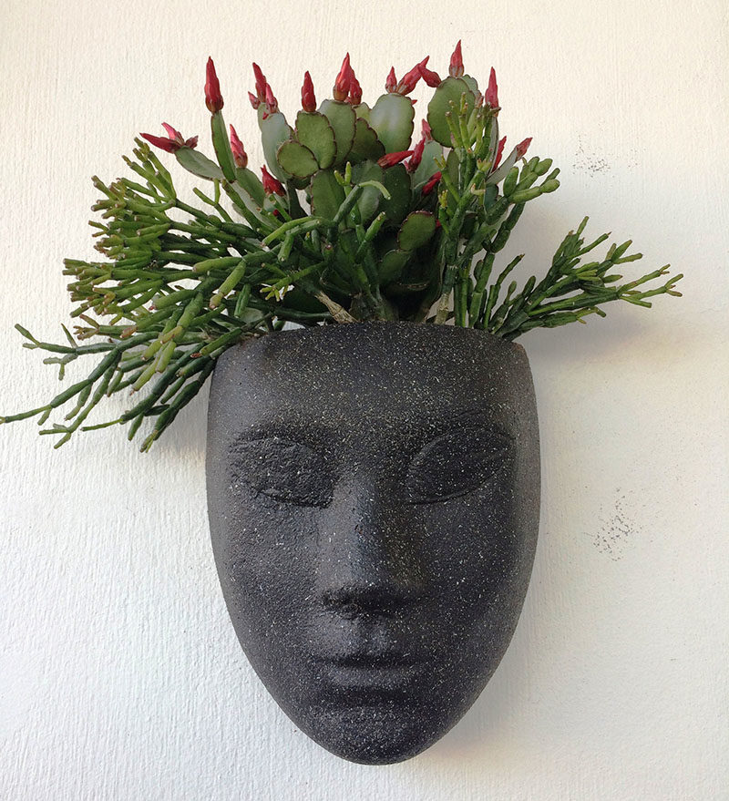 Wall Planter Ideas - HeadPlanters are a fun wall planter that allows you to create an instant personality for the sculptural face by adding succulents or cacti. #WallPlanter #WallPlanterIdeas #HomeDecor #DecorIdeas #WallArt #ModernWallArt
