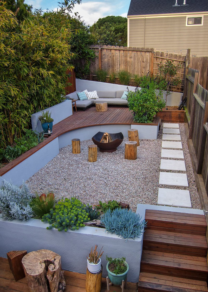 Multiple Levels Give This Small Yard Room For Entertaining