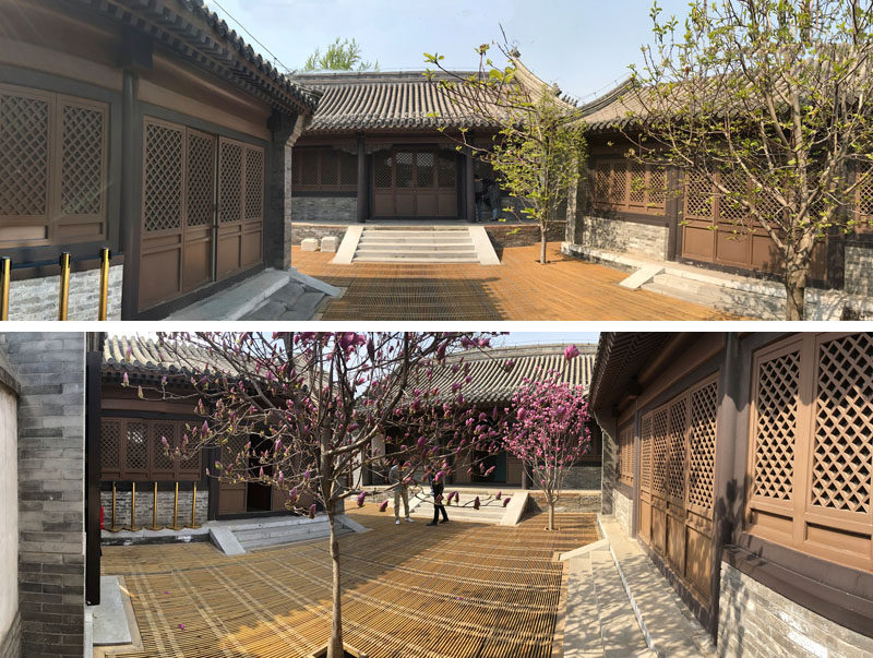 BEFORE PHOTOS - Daipu Architects have updated an old hutong in Beijing, China, and transformed it into a modern space with transparent glass skin. #Architecture #GlassWalls #BuildingDesign