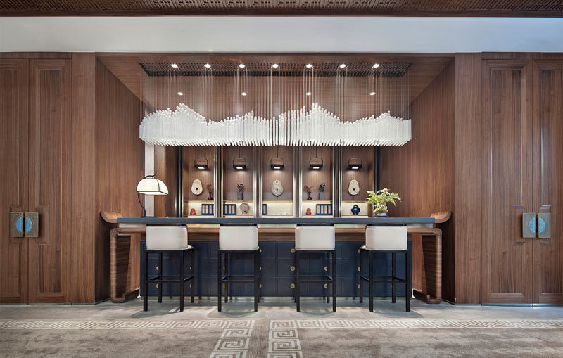 A Design Award - Center Manor by Jia Hongfeng #InteriorDesign #BarDesign