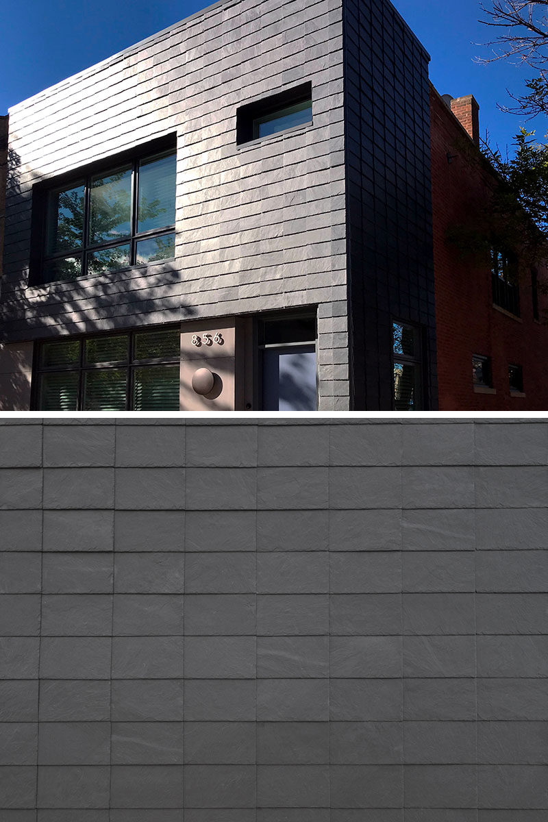 Developed alongside Danish architects and contractors, CUPACLAD offer a range of natural slate cladding systems. #Cupaclad #SlateSiding #HouseSiding #Architecture