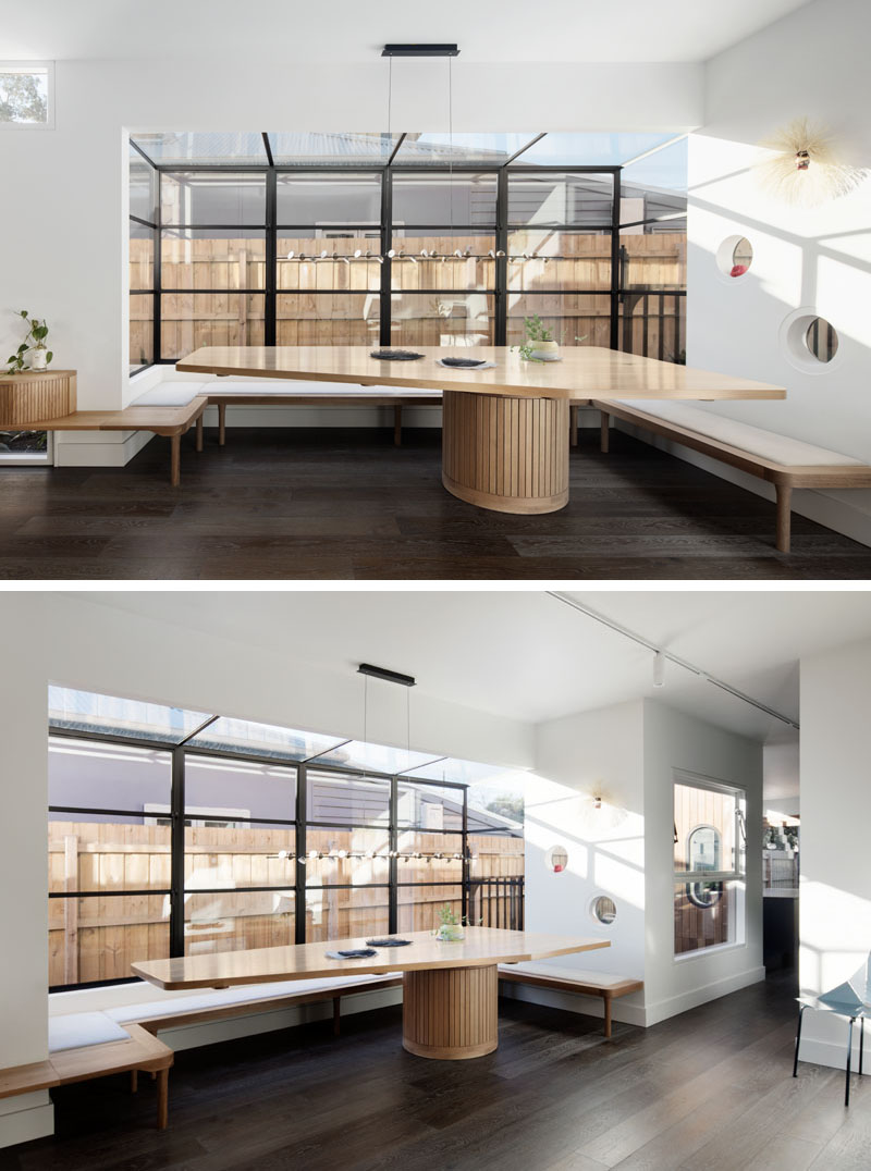 Strange Modern Built In Dining Table With Bench Windows 130919 103 Machost Co Dining Chair Design Ideas Machostcouk