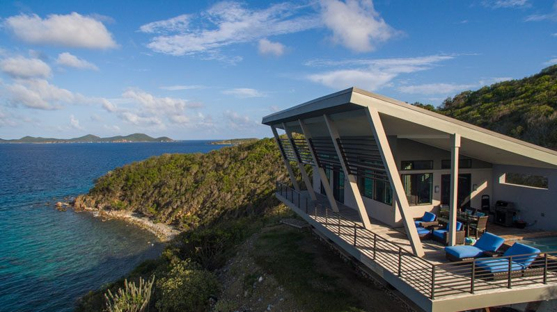 Timothy Tricker of Terra Nova Architecture, has designed a modern cottage on Saint John in the U.S. Virgin Islands. #ModernCottage #ModernArchitecture #SmallHouse #TinyHouse