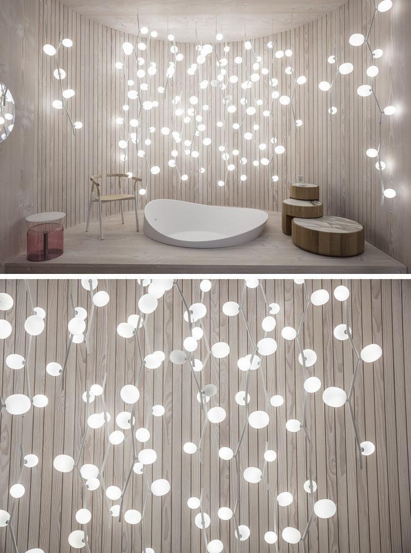Product and furniture designer Lucie Koldova, has created the IVY collection, that includes a variety of modern lights that draw inspiration from the plant with the same name. #Lighting #LightingDesign #PendantLight #LucieKoldova #Design #Decor